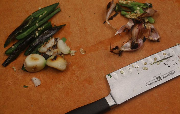 Roasted Garlic & Chili Cilantro Pesto