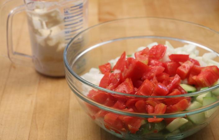 Cucumber Tahini Salad by Early Morning Farm CSA