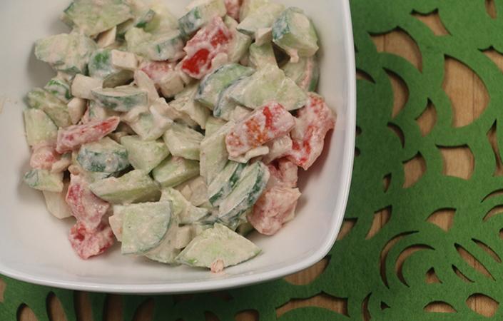 Cucumber Tahini Salad