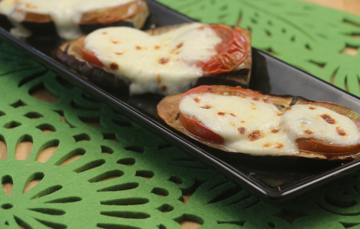 Grilled Eggplant with Mozzarella by Early Morning Farm CSA