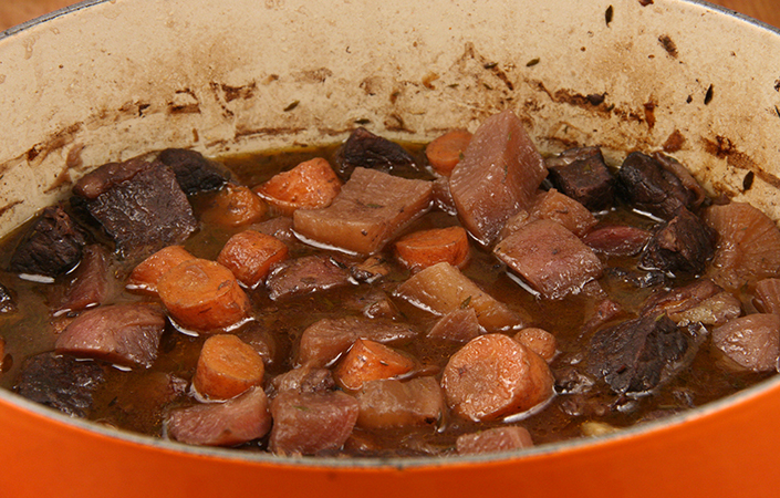 Beef Stew with Red Wine & Herbs