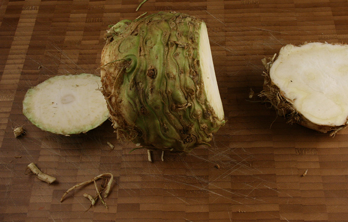 How to Chop a Celeriac