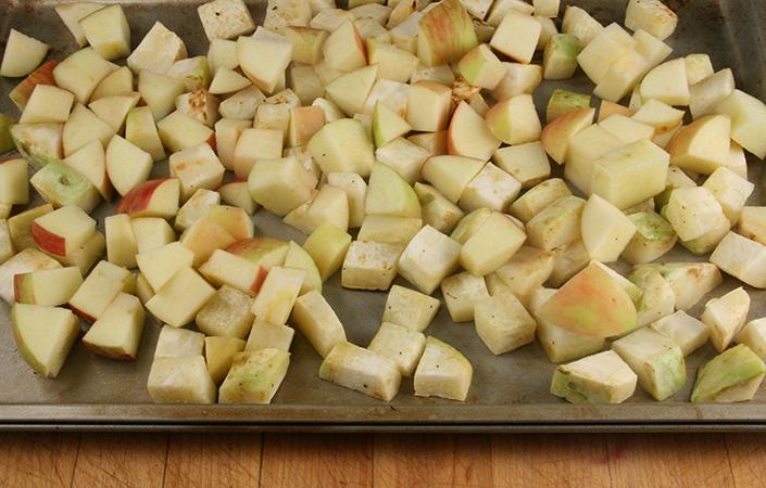 Maple Roasted Celeriac & Apple with Bacon