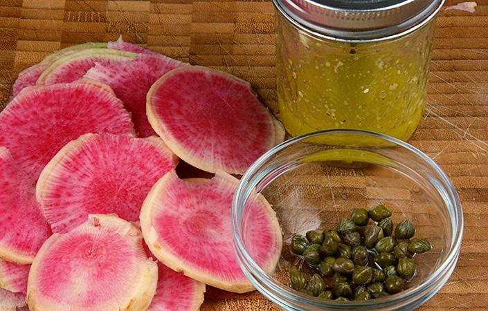 Watermelon Radish Carpaccio