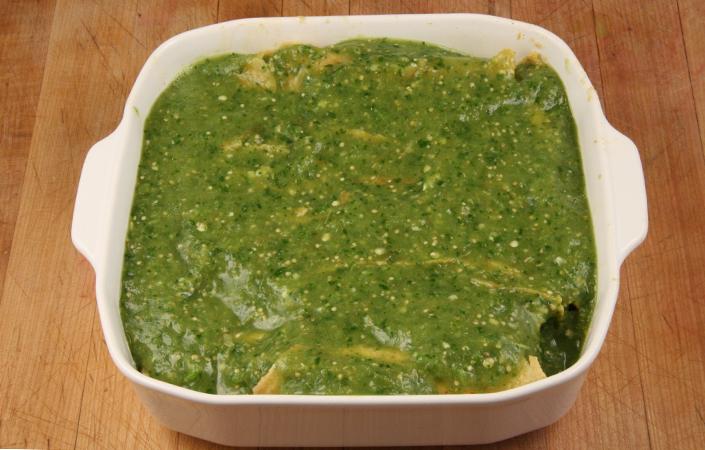 Carrot Enchiladas with Salsa Verde