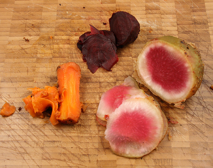 Cured Winter Root Vegetables by Early Morning Farm CSA