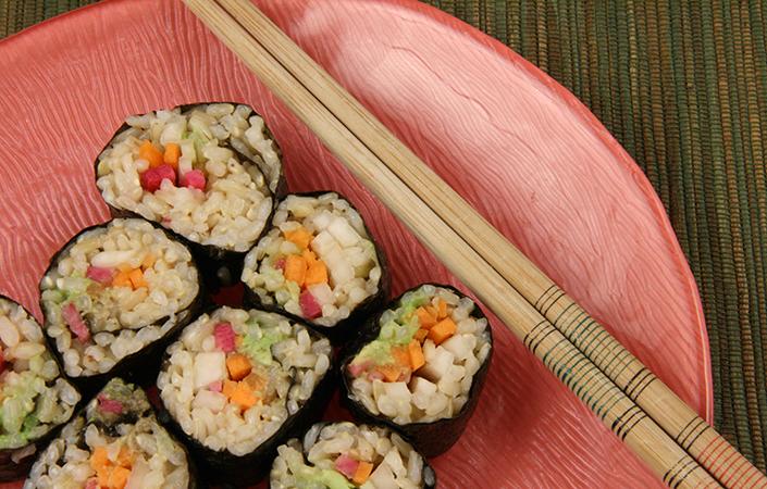 Watermelon Radish Sushi
