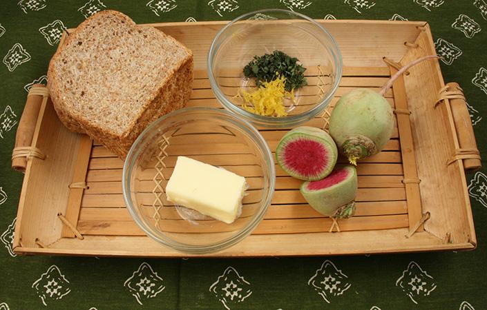 Watermelon Radish Tea Sandwich
