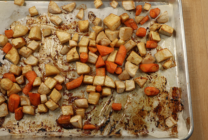 Miso Maple Roasted Roots by Early Morning Farm CSA