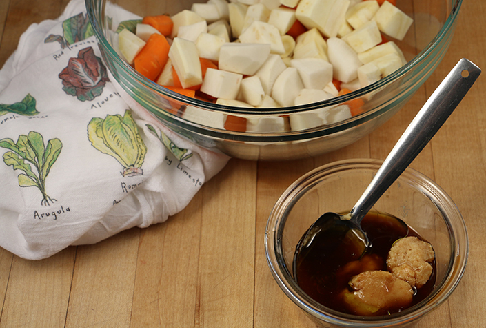 Miso Maple Roasted Root Vegetables by Early Morning Farm CSA