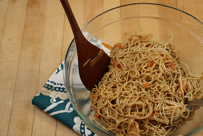 Quick Spicy Soba Noodles by Early Morning Farm CSA