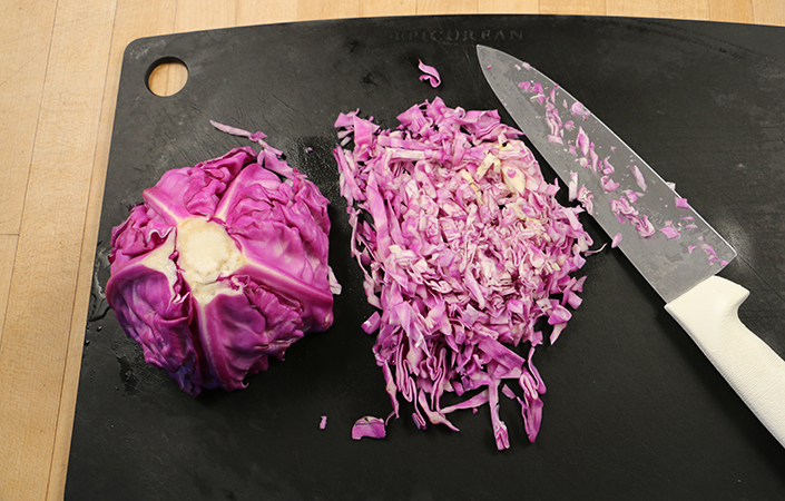 Red Cabbage Slaw with Tahini by Early Morning Farm CSA