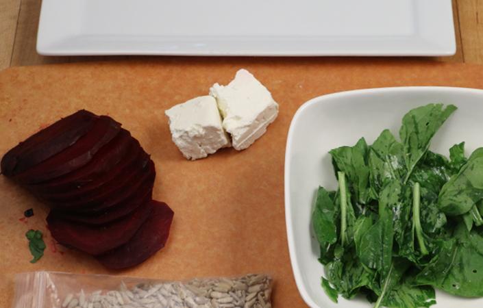 Arugula Beet Salad by Early Morning Farm CSA