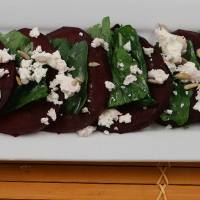 Arugula Beet Salad by Early Morning Farm CSA