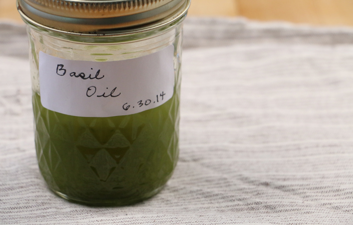 Basil Oil by Early Morning Farm CSA