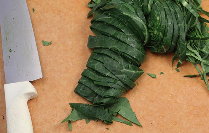 Collard Pasta by Early Morning Farm CSA