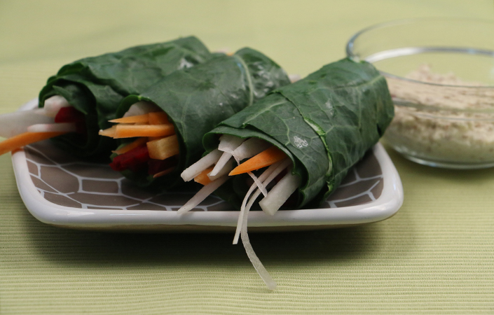 Raw Collard Green Rolls
