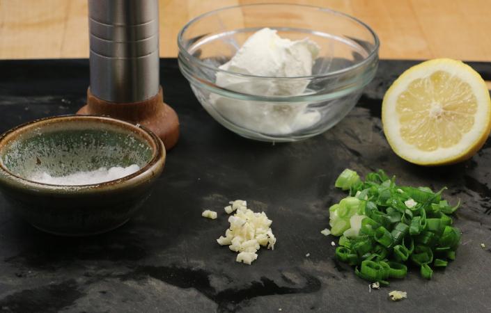 Grilled Napa Cabbage Slaw with Yogurt Dressing