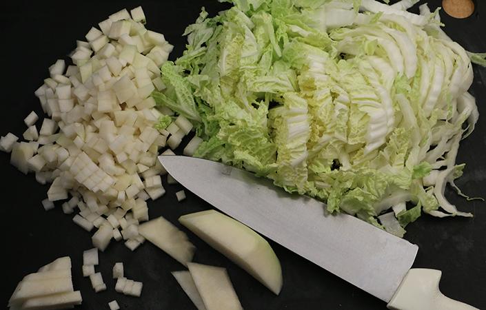 Napa Cabbage Slaw with Yogurt Dressing