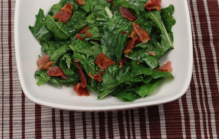 Warm Mizuna, Arugula, & Spinach S