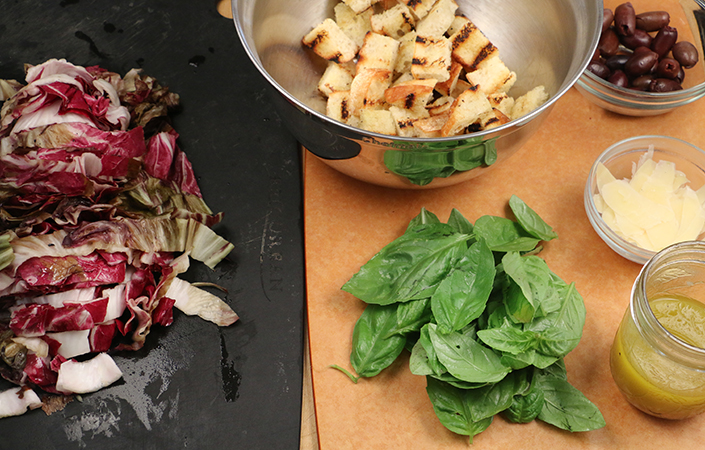 Grilled Radicchio Panzanella by Early Morning Farm CSA