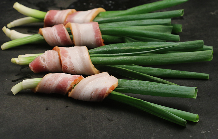 Bacon Wrapped Scallions by Early Morning Farm CSA