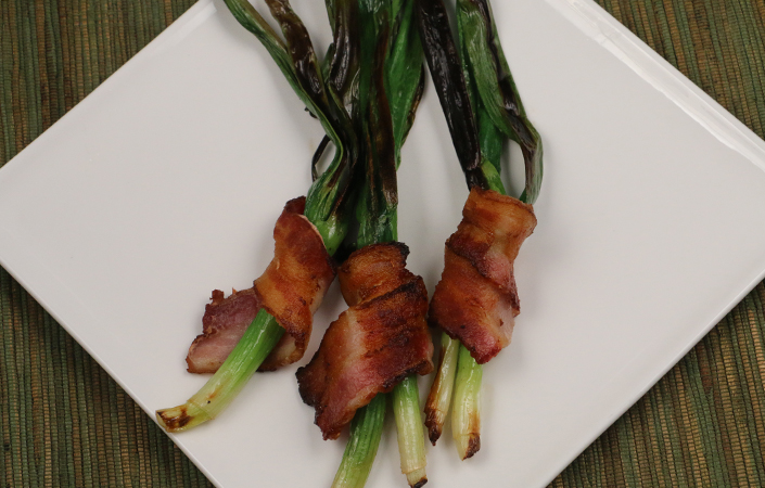 Bacon Wrapped Scallions