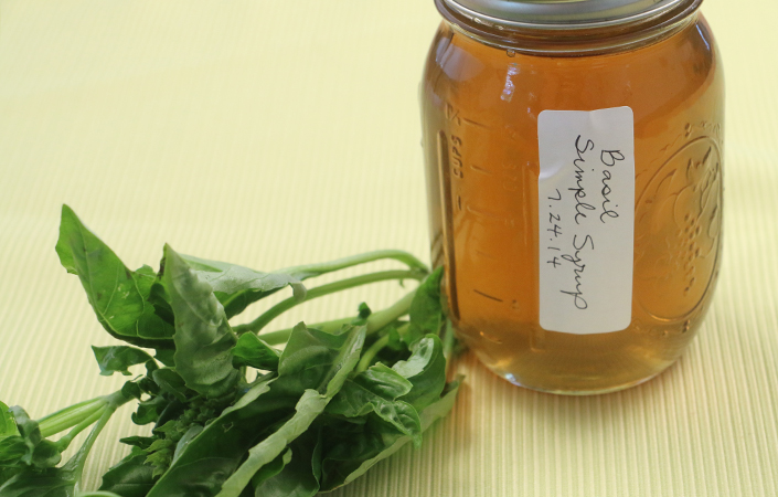 Basil Simple Syrup by Early Morning Farm CSA
