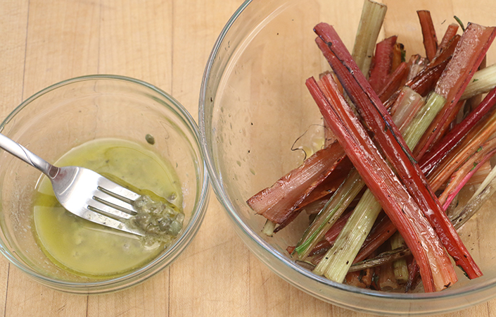 Grilled Swiss Chard Stems