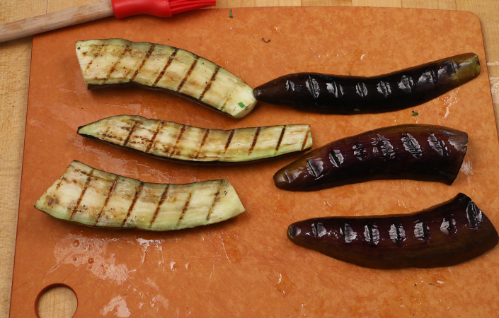 Sesame Noodles with Grilled Eggplant