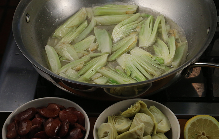 Braised Fennel with Artichokes & Heirloom Lima Beans by Early Morning Farm CSA