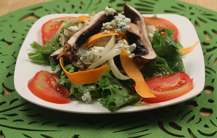 Grilled Portabello Mushroom Salad by Early Morning Farm CSA