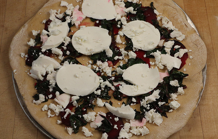 Beet & Goat Cheese Pizza by Early Morning Farm CSA
