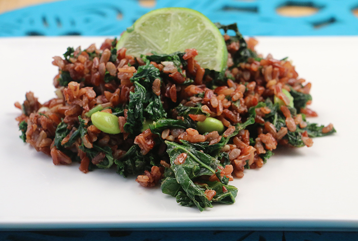 Red Fried Rice with Kale by Early Morning Farm CSA