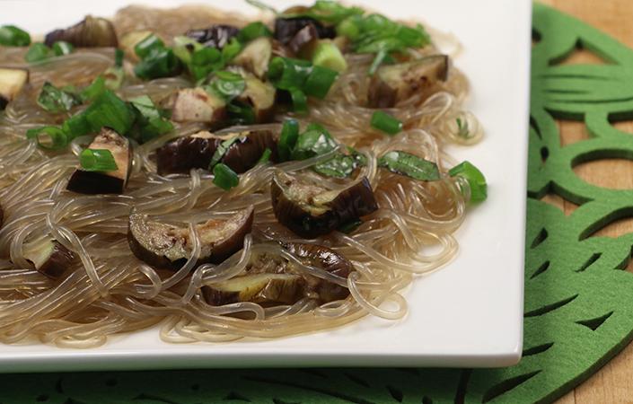 Sesame Noodles with Eggplant