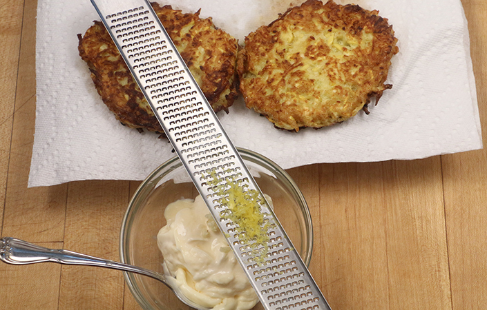 Summer Squash Fritters by Early Morning Farm CSA