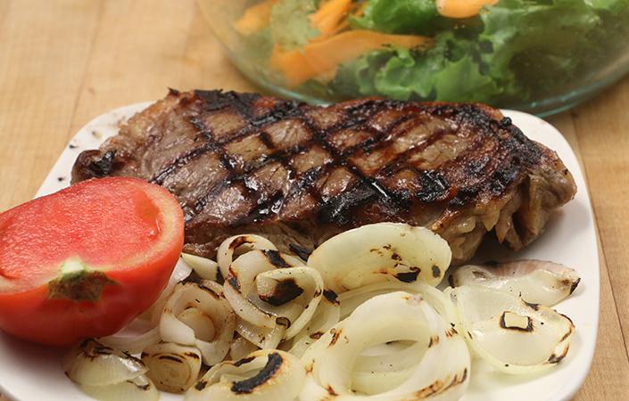 Strip Steak Salad by Early Morning Farm CSA