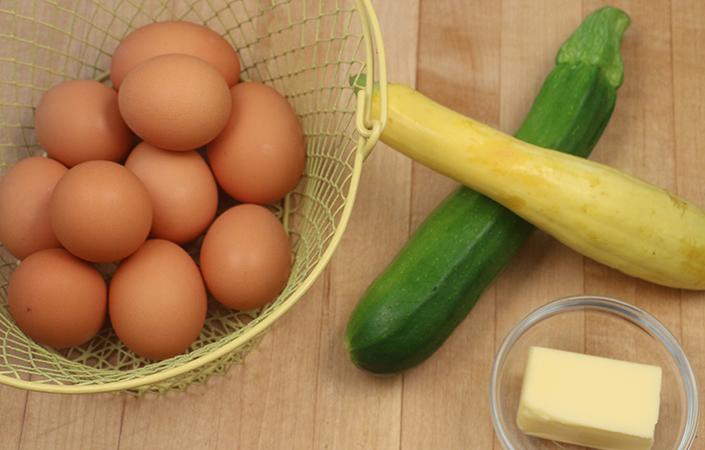 Summer Squash Frittata by Early Morning Farm CSA