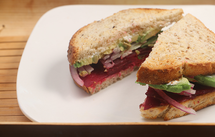 Cured Beet Sanwiches