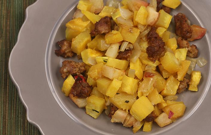 Delicata Squash & Apple Hash
