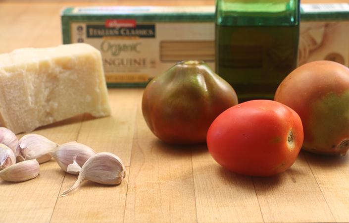 Slow Roasted Tomato Garlic Pasta