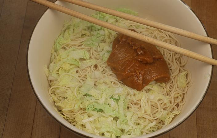 Napa Cabbage Peanut Noodles
