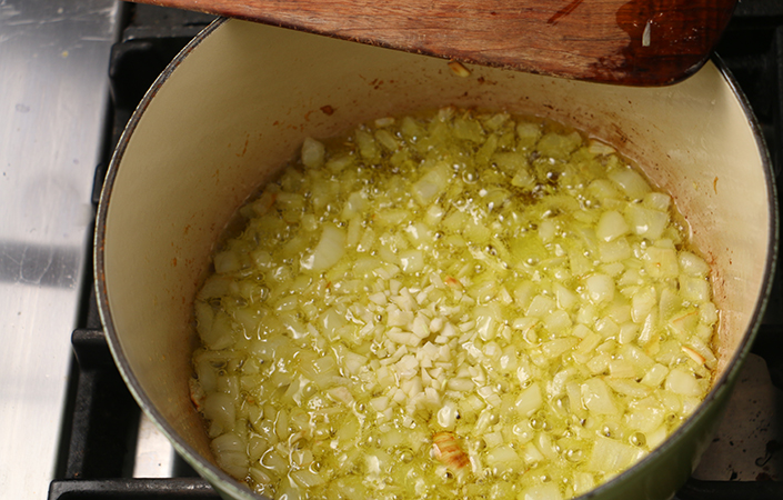 Marcella Hazan's Rice & Cabbage Soup