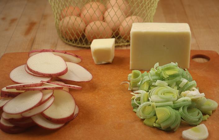 Potato Leek Frittata