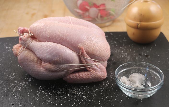 Roast Chicken with Radishes