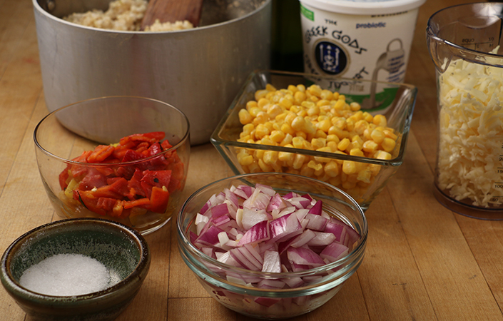 Rice, Corn, Pepper Casserole