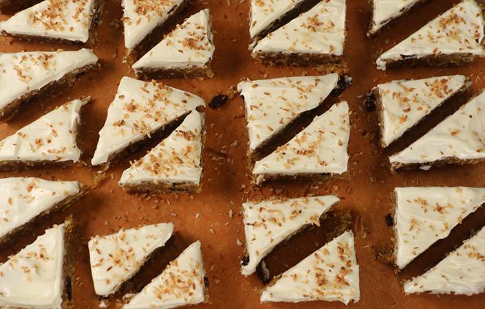 Browned Butter Carrot Cake Bars