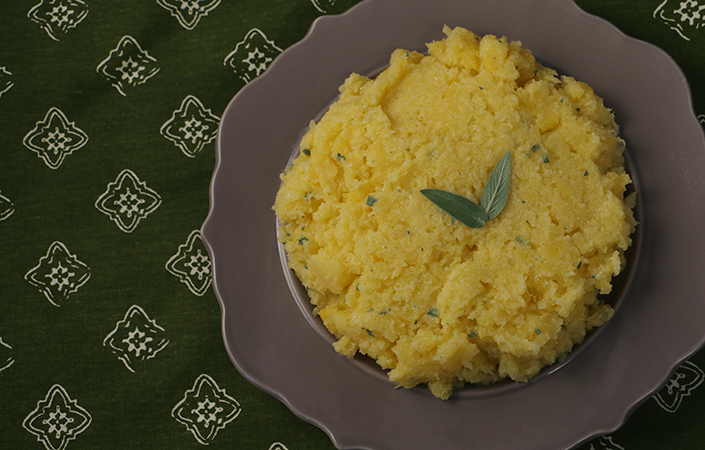 Mashed Rutabaga with Yogurt & Sage