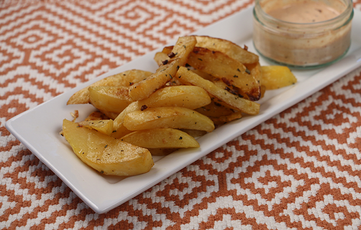 Oven Baked Rutabaga Fries with Chipotle Aioli