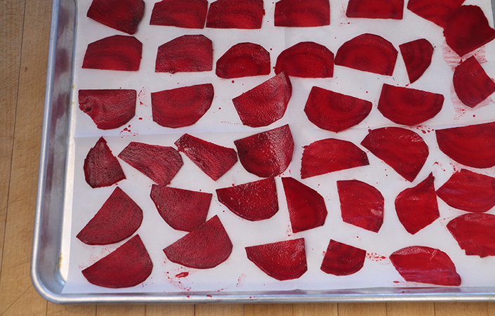Easy Beet Chips